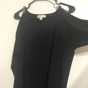 Blk/Silver Michael Kors Cold Shoulder Dress